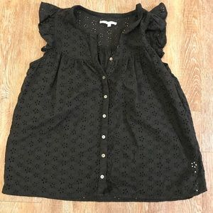 Madewell Floral Eyelet Blouse